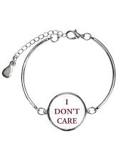 i dont care song shirt Metallic Circle Bracelet front