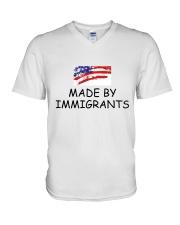 USA - Made by Immigrants V-Neck T-Shirt thumbnail