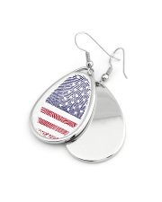 american fingerprint Teardrop Earrings aos-earring-teardrop-front-lifestyle-11