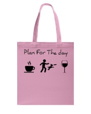 Plan for the day disc dog Tote Bag tile