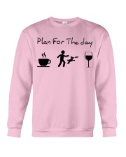 Plan for the day disc dog Crewneck Sweatshirt tile