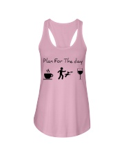 Plan for the day disc dog Ladies Flowy Tank tile