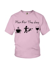 Plan for the day disc dog Youth T-Shirt tile