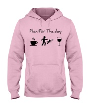 Plan for the day disc dog Hooded Sweatshirt tile