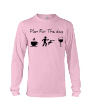 Plan for the day disc dog Long Sleeve Tee tile