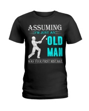 cricket old man Ladies T-Shirt thumbnail