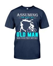 Triathlon assuming man Classic T-Shirt thumbnail