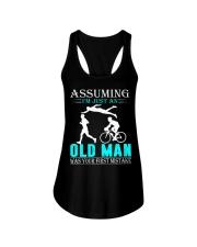Triathlon assuming man Ladies Flowy Tank thumbnail
