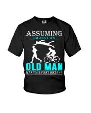 Triathlon assuming man Youth T-Shirt thumbnail