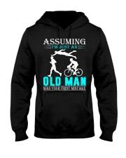 Triathlon assuming man Hooded Sweatshirt front