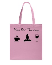 Plan for the day Yoga Tote Bag thumbnail