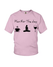 Plan for the day Yoga Youth T-Shirt thumbnail