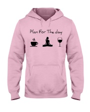 Plan for the day Yoga Hooded Sweatshirt front