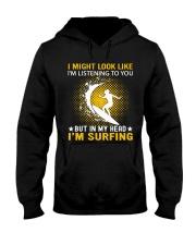 surfing in her hand Hooded Sweatshirt front