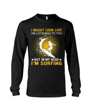 surfing in her hand Long Sleeve Tee thumbnail