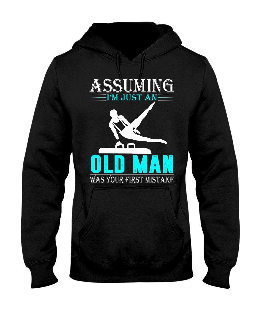 Gymnastics old man Hooded Sweatshirt