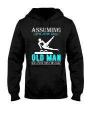 Gymnastics old man Hooded Sweatshirt front