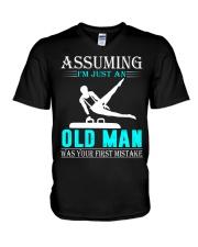 Gymnastics old man V-Neck T-Shirt thumbnail