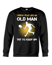 old man tennis Crewneck Sweatshirt thumbnail