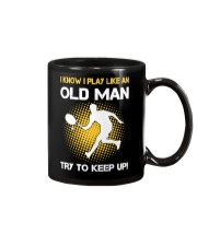 old man tennis Mug tile