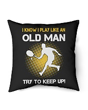 "old man tennis Indoor Pillow - 16"" x 16"" thumbnail"