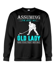 hockey old lady Crewneck Sweatshirt thumbnail