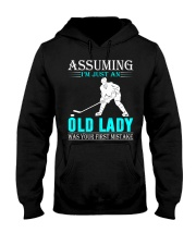 hockey old lady Hooded Sweatshirt tile