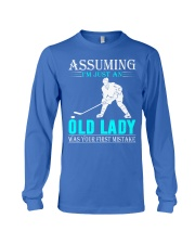 hockey old lady Long Sleeve Tee thumbnail