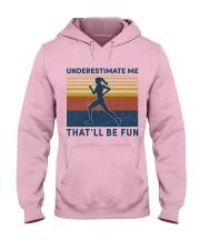 jogging underestimate lady Hooded Sweatshirt front