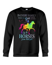 girl with horses Crewneck Sweatshirt thumbnail