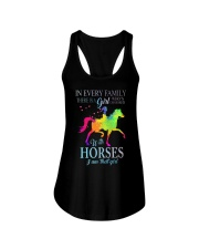 girl with horses Ladies Flowy Tank thumbnail