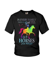 girl with horses Youth T-Shirt thumbnail