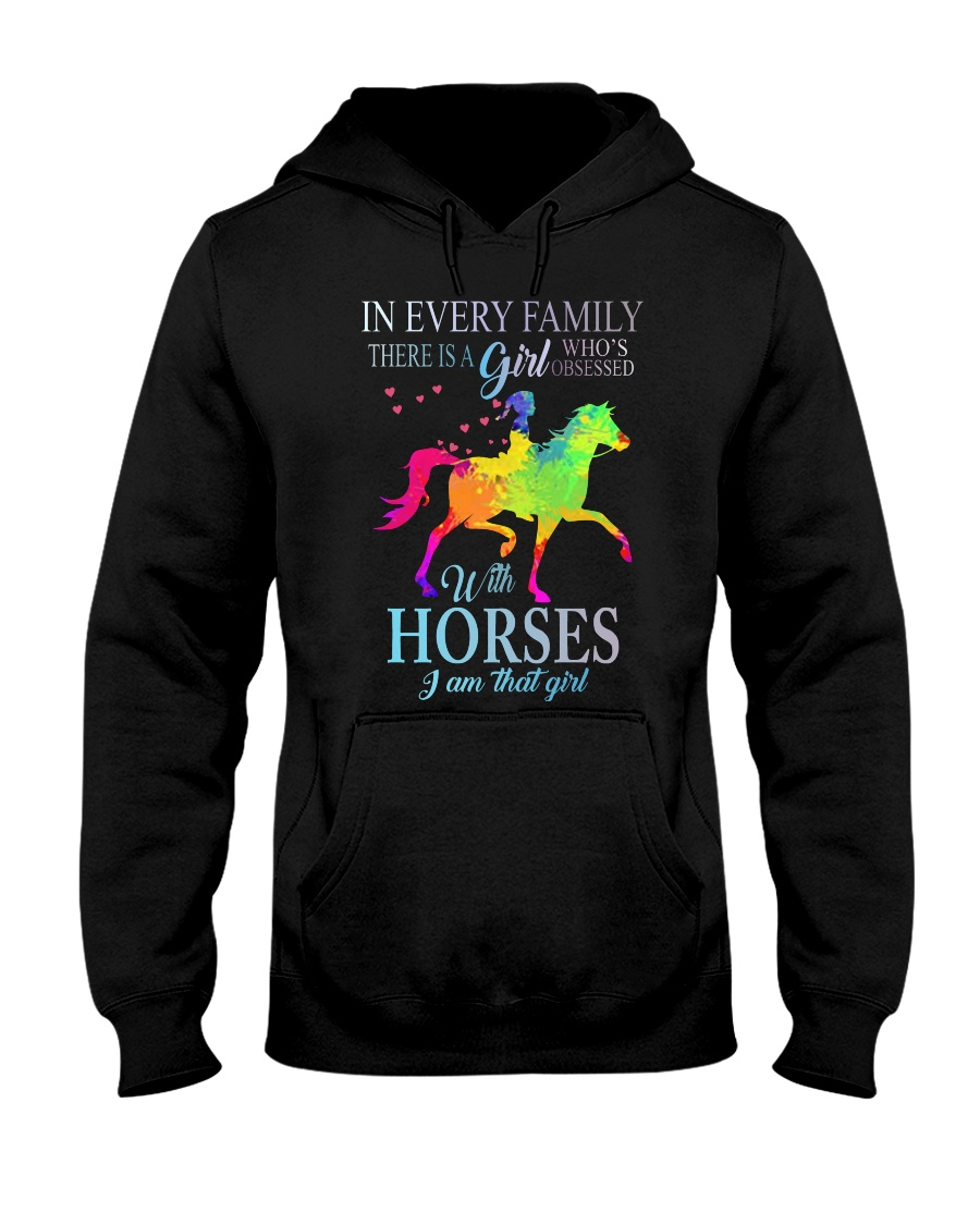 girl with horses Hooded Sweatshirt