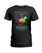 girl with horses Ladies T-Shirt thumbnail