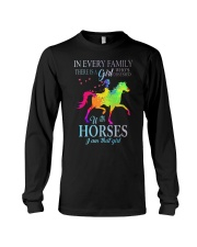 girl with horses Long Sleeve Tee thumbnail