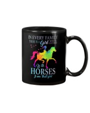 girl with horses Mug thumbnail