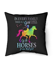"girl with horses Indoor Pillow - 16"" x 16"" thumbnail"