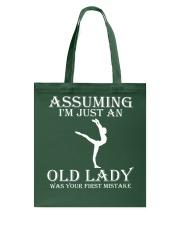Gymnastics lady - s001 Tote Bag thumbnail