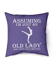 "Gymnastics lady - s001 Indoor Pillow - 16"" x 16"" thumbnail"