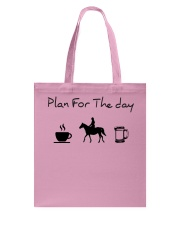 Plan for the day horse riding and beer Tote Bag thumbnail