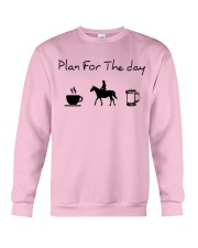 Plan for the day horse riding and beer Crewneck Sweatshirt thumbnail