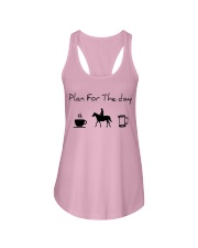 Plan for the day horse riding and beer Ladies Flowy Tank thumbnail