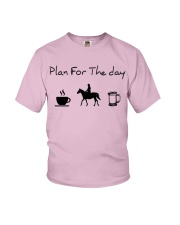 Plan for the day horse riding and beer Youth T-Shirt thumbnail