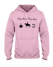 Plan for the day horse riding and beer Hooded Sweatshirt front