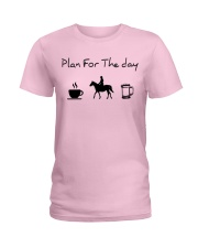 Plan for the day horse riding and beer Ladies T-Shirt thumbnail