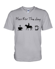 Plan for the day horse riding and beer V-Neck T-Shirt thumbnail