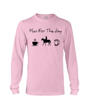 Plan for the day horse riding and beer Long Sleeve Tee thumbnail