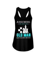 chess old man Ladies Flowy Tank thumbnail