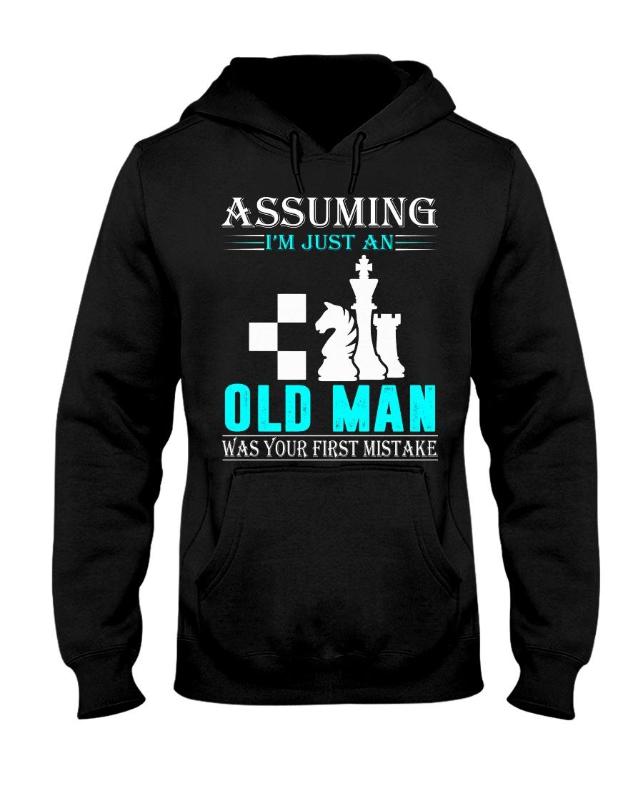 chess old man Hooded Sweatshirt