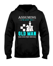 chess old man Hooded Sweatshirt front